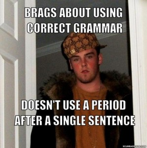 correct grammar and punctuation
