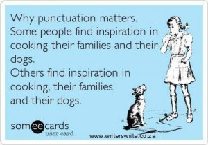 correct my punctuation