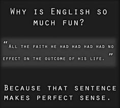 english sentence formation